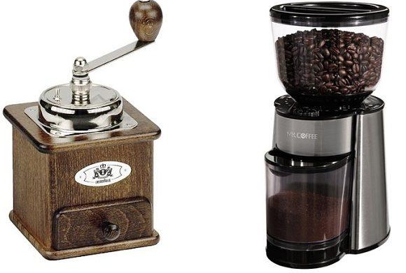 Ручная и автоматическая кофемолка