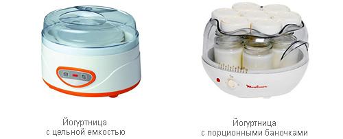 Количество емкостей йогуртницы