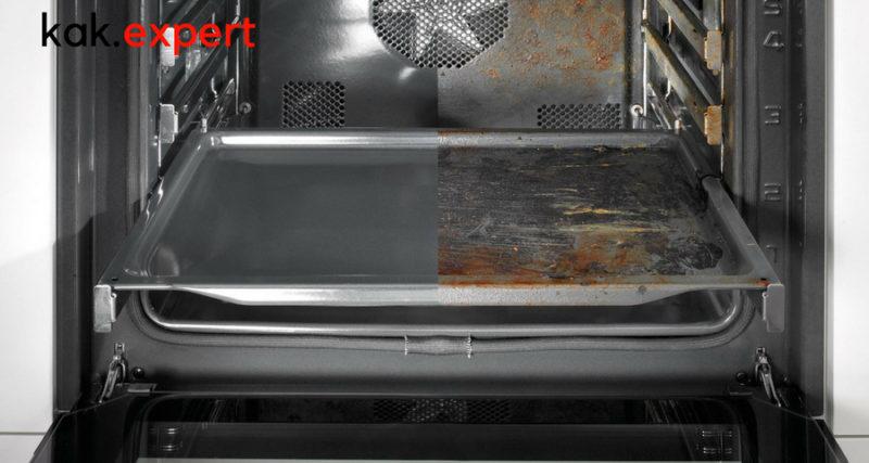 Способы чистки духовки от жира