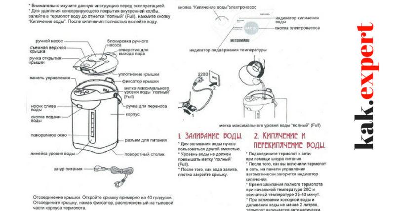 Памятка пользования термопотом