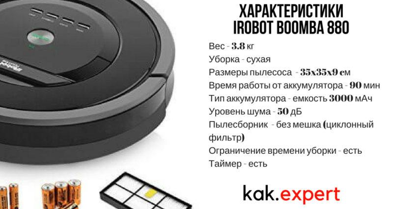 Характеристика Irobot Roomba 880