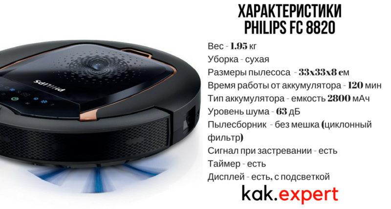 Характеристика Philips FC 8820