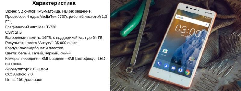Обзор телефона Нокиа 3