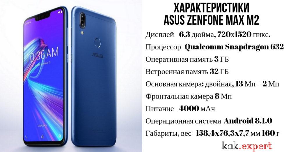 Характеристики Asus Zenfone Max M2