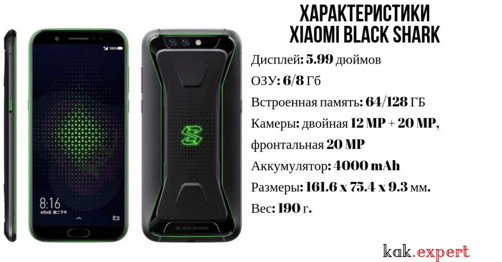 Характеристики телефона Xiaomi Black Shark