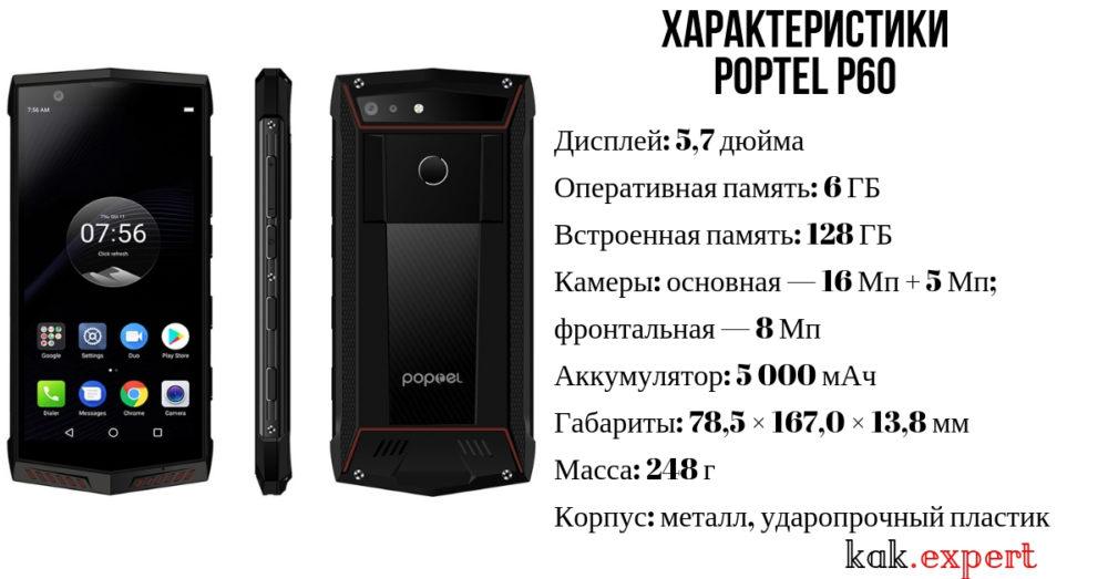 Poptel P60 характеристика