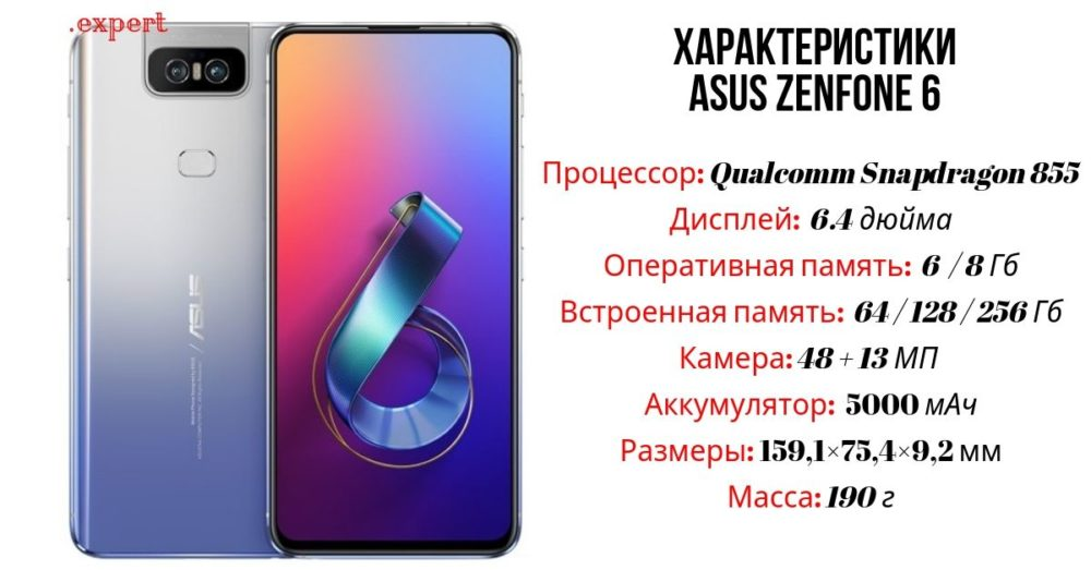 Asus ZenFone 6 характеристики