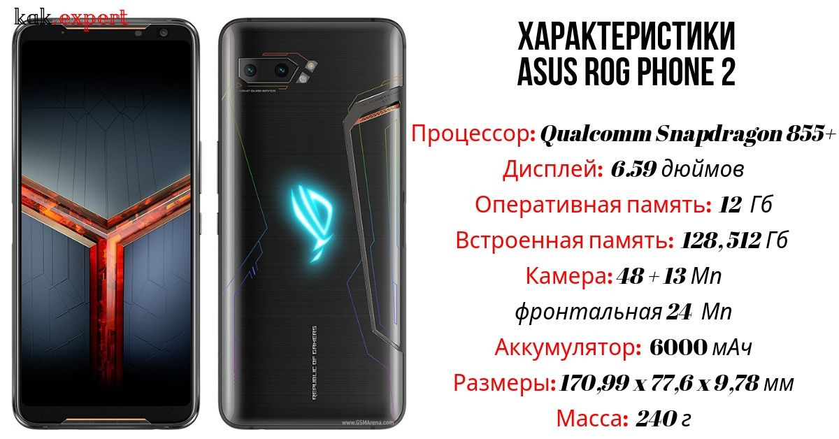 asus rog phone 2 характеристика