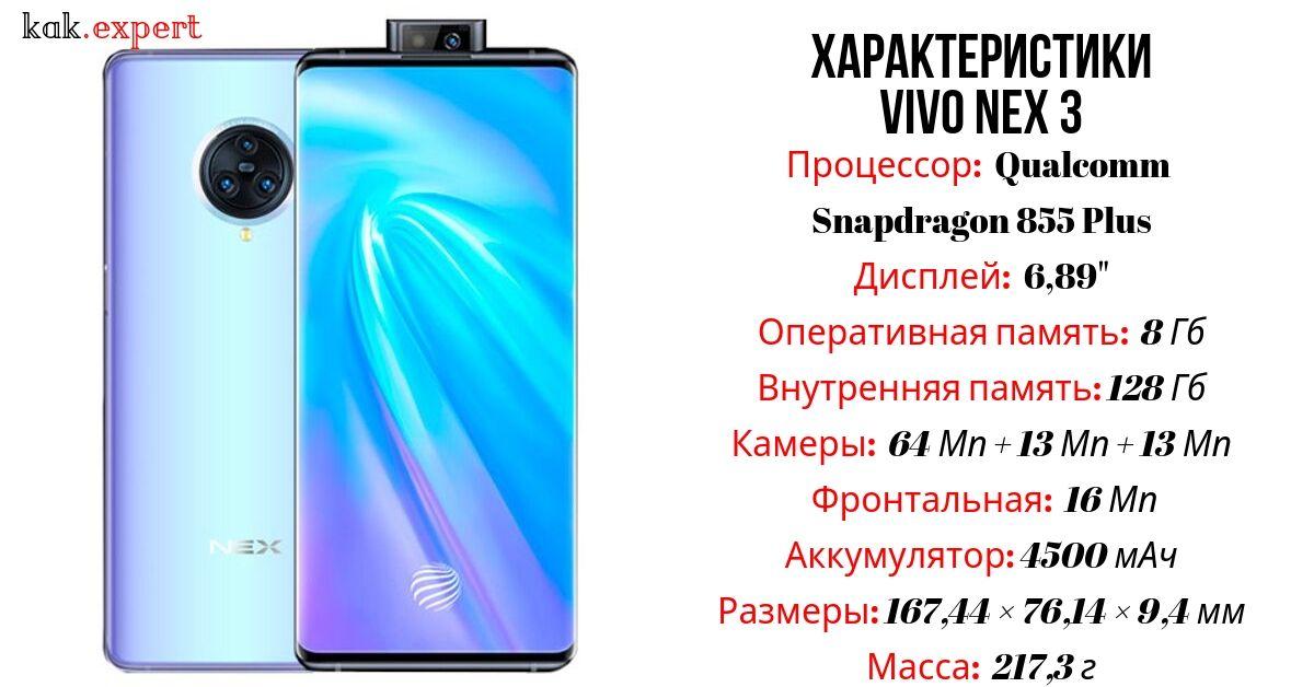 Vivo NEX 3 характеристики