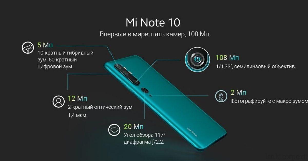 Xiaomi Mi Note 10 камеры