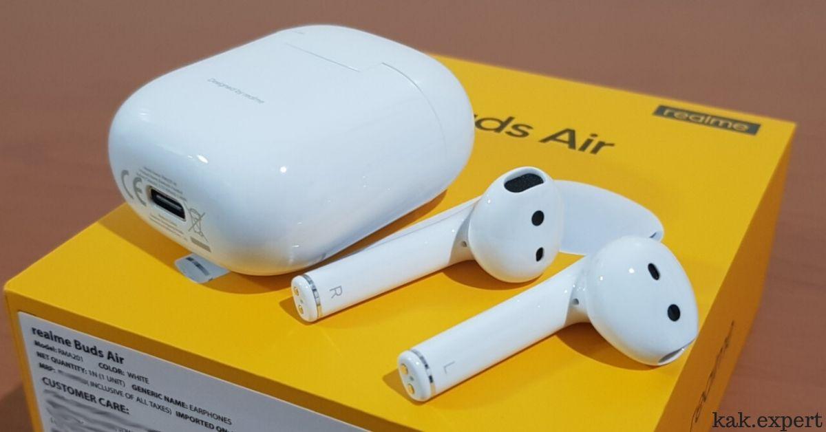 Realme Buds Air внешний вид